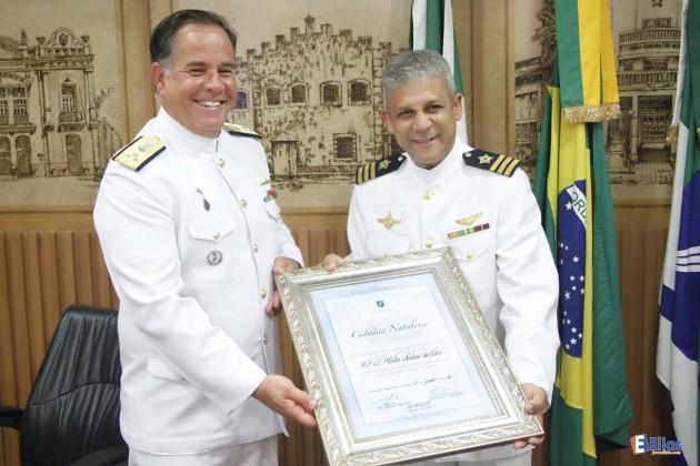 O comandante do 3ºDN, o Contra-Almirante Afrânio de Paiva Moreira Junior