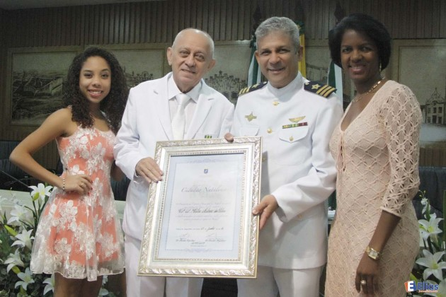 O presidente da Câmara Municipal de Natal, o vereador Franklin Capistrano foi o propositor da homenagem.