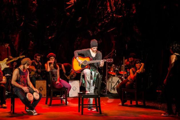 Cássia Eller - O Musical' se apresenta em Natal. (Foto: Marcos Hermes).