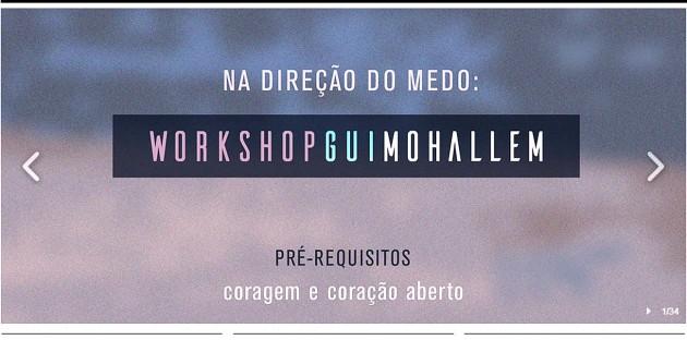 Gui Mohallem traz workshop para Natal nesta quinta-feira.