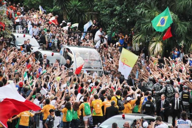 Foto: Elias Medeiros - Jornada da Juventude visita do Papa ao Rio de Janeiro.