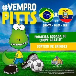 Rodada eliminatória da copa entre Brasil e Equador será transmitida ao vivo no Pittsburg
