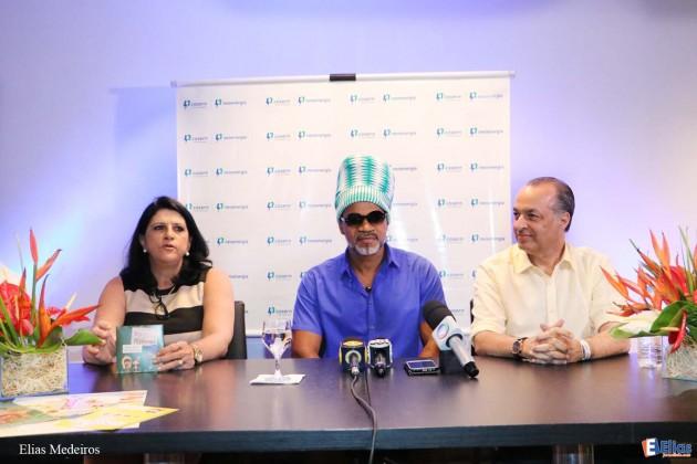 Coletiva de Imprensa - COSERN e Carlinhos Brown lançam projeto Paxuá e Paramin .