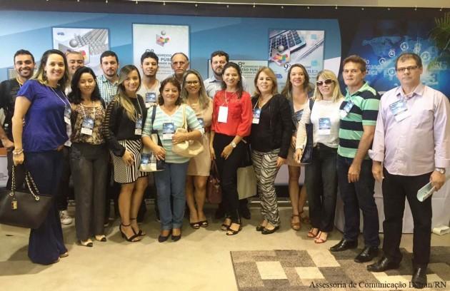 Servidores do Detran/RN participam do 10º Congresso de Gestão Pública.