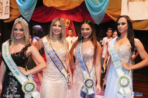 Concurso Miss das Américas: Aclamação representante de Pernambuco Fran Souza e do Rio de Janeiro, Gabirela Calixto.