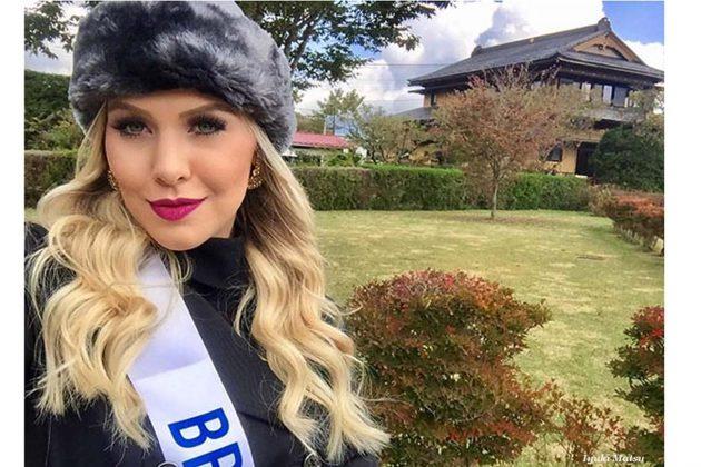 Manoela Alves representa o Brasil no Miss Beleza Internacional no Japão.