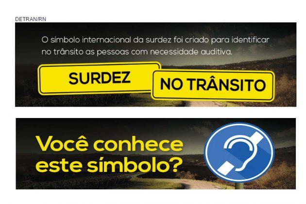 Detran vai apresentar Símbolo Internacional da Surdez a gestores do Seridó .