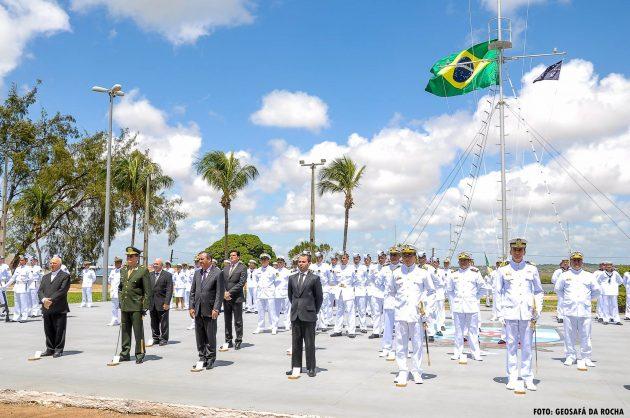 Cerimônia Cívico-Militar alusiva ao Dia do Marinheiro, com imposição da Medalha Mérito Tamandaré a diversas autoridades civis e militares, na Base Naval de Natal.
