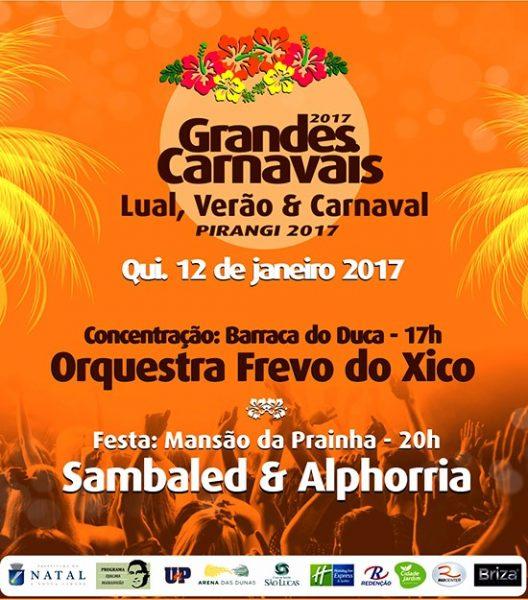 Dia 12 o Movimento Grandes Carnavais faz festa pra lua com frevo, samba e reggae em Pirangi.