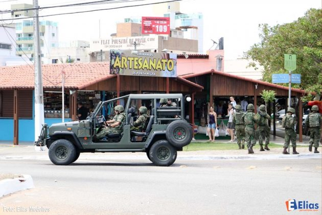 Fuzileiros Navais iniciaram patrulhamento nas ruas de Natal.