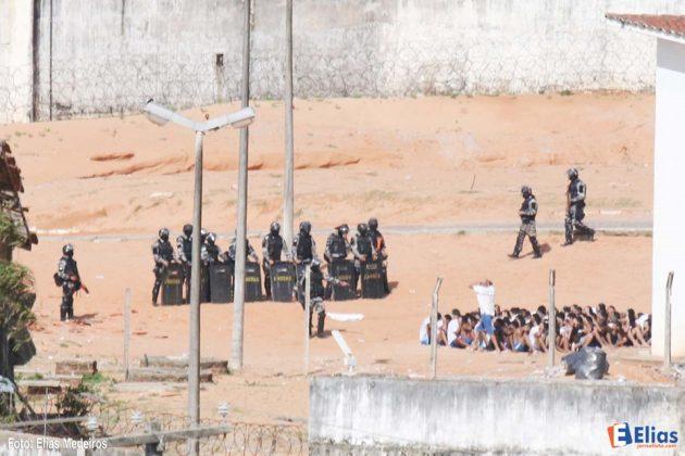 Polícia entra em Alcaçuz e realiza contagem de presos.
