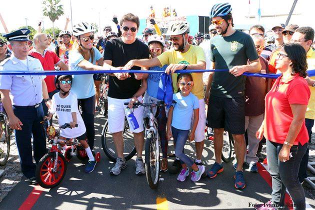 O governador Robinson Faria inaugurou a ciclofaixa da Rota do Sol, atendendo a um pleito antigo de ciclistas e esportistas da Cidade do Sol.