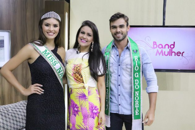 Mister RN e Miss Natal 2017 participam do Band Mulher.