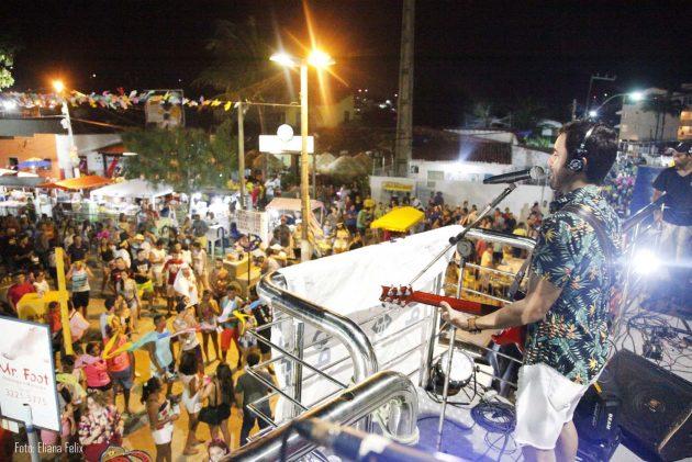 Todas as noites um grande show para os foliões de Pirangi.