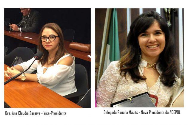 A nova presidente é a Delegada Paoulla Maués, que substitui a Dra. Ana Cláudia Saraiva, nova vice-presidente.