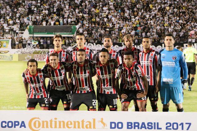A Equipe do São Paulo segue na Copa do Brasil.