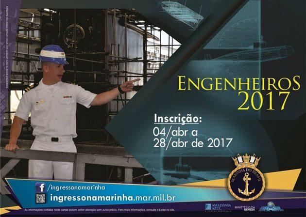 Marinha do Brasil abre 64 vagas para Corpo de Engenheiros