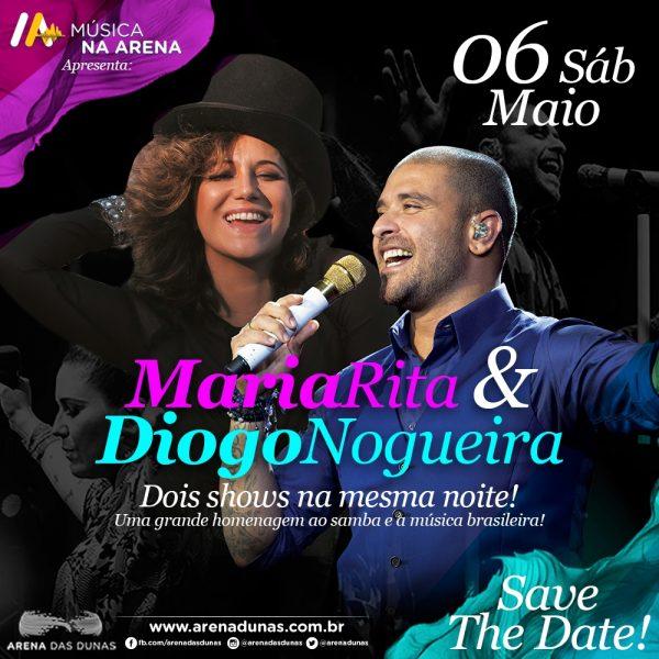 MÚSICA NA ARENA inicia vendas do show Maria Rita & Diogo Nogueira.