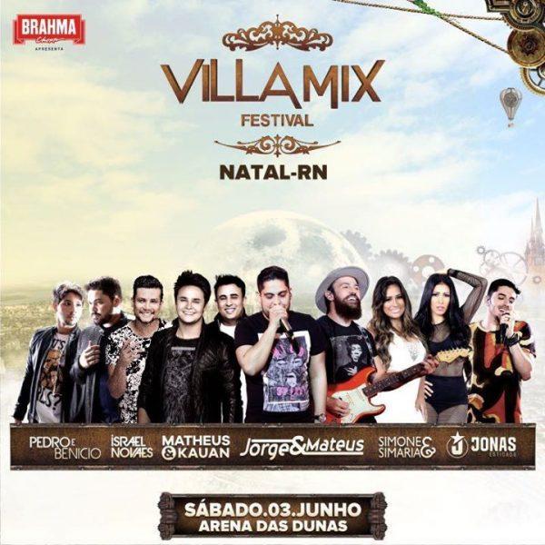 Vila Mix Festival será realizado dia 03 de junho na Arena das Dunas.