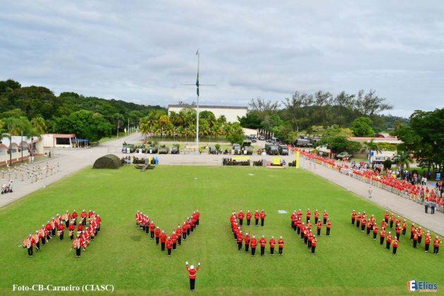 43º encontrão de veteranos Fuzileiros Navais realizado no Rio de Janeiro.