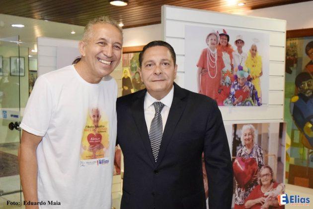 O Presidente da Assembleia Legislativa Ezequiel Ferreira com o ideliazador da mostra o jornalista