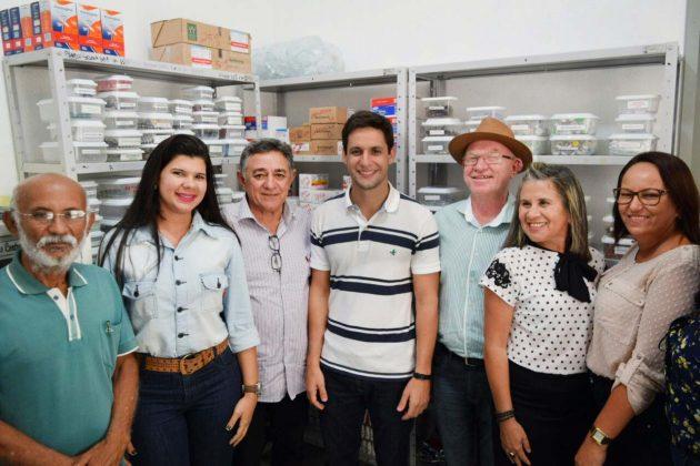 Rafael Motta visita unidades de saúde beneficiadas com emendas parlamentares de sua autoria. (Foto: Ciro Marques).