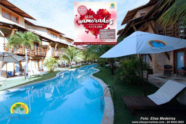 Praia Bonita Resort & Conventions lança promoção imperdível para o Dia dos Namorados.