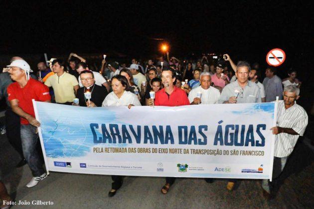 Caravana das Águas: comitiva da Assembleia acompanha visita à Barragem de Boa Vista, na Paraíba.