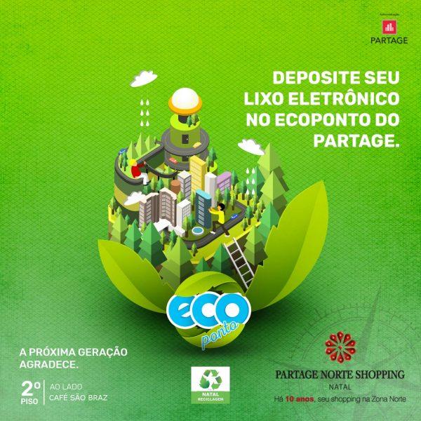Partage Norte Shopping inaugura Ecoponto para lixo eletrônico.