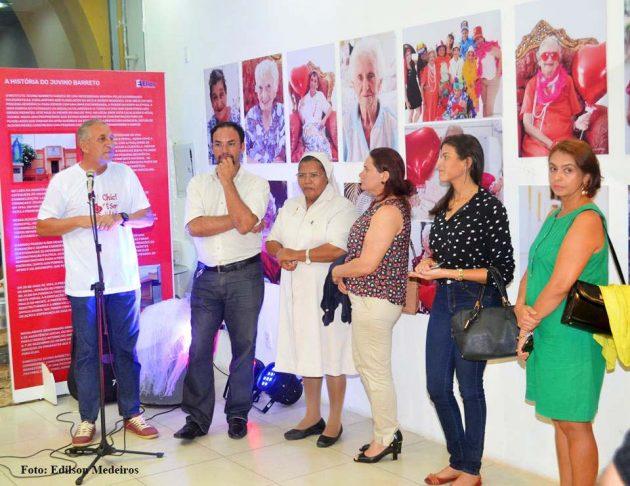 Os representantes do Instituto Juvino Barreto participaram do lançamento da mostra.