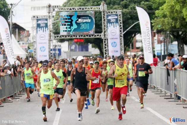 Corrida Miranda 30 anos rua reúne 1.500 atletas em Natal.
