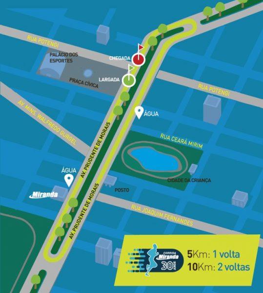 Evento terá atividades gratuitas na Praça Cívica e largada da prova será às 16h.