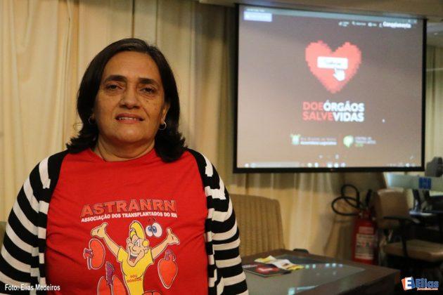 Representando a Associação dos Transplantados do RN, Lúcia Pontes, também transplantada do coração, reforçou o trabalho desempenhado à frente da associação.