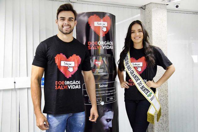 Potiguares divulgam campanha da Assembleia Legislativa do RN em evento no RJ.