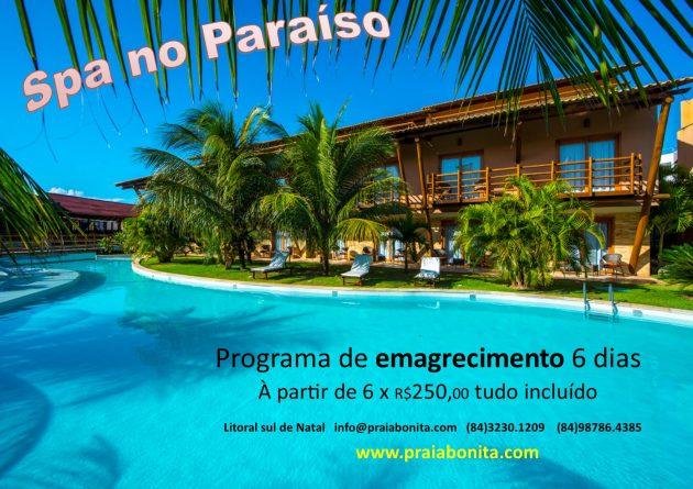 Praia Bonita Resort litoral sul de Natal apresenta: SPA NO PARAÍSO.