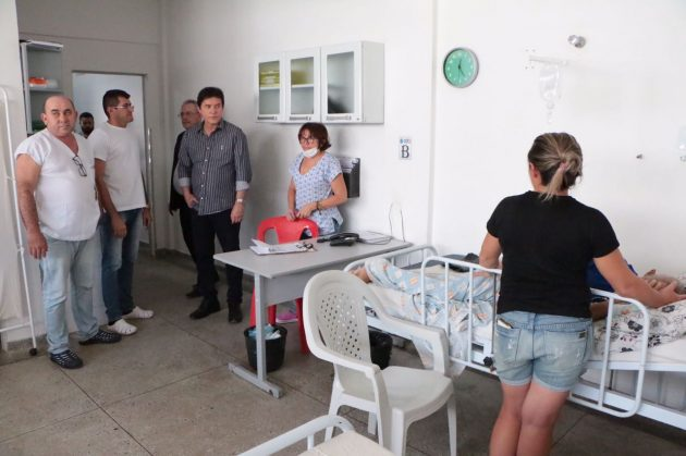 Em Pau dos Ferros, governador vistoria obras do hospital regional e o futuro prédio do ITEP. (Foto: Ivanizio Ramos).