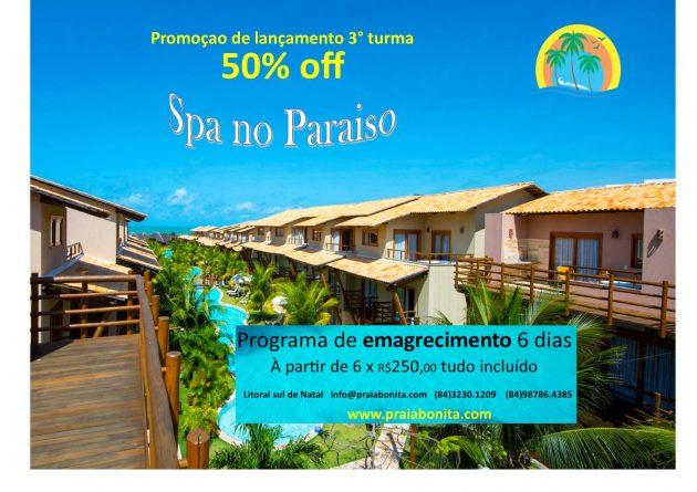 Inscrições abertas para terceira turma de emagrecimento Spa no Paraíso do Praia Bonita Resort!.