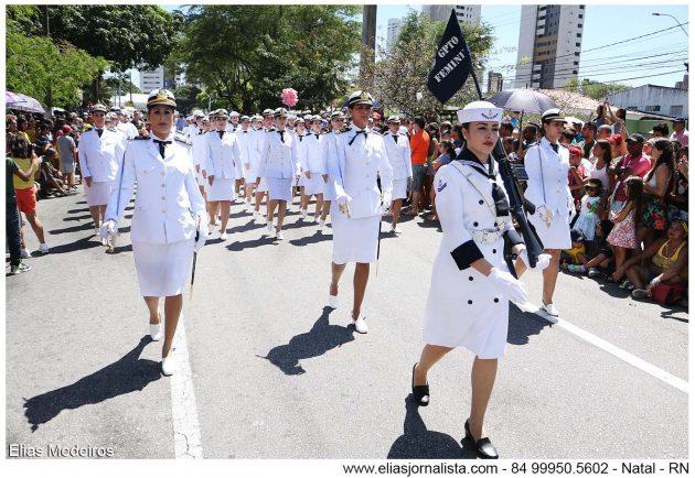 Desfile Cívico-Militar encerra Semana da Pátria em Natal