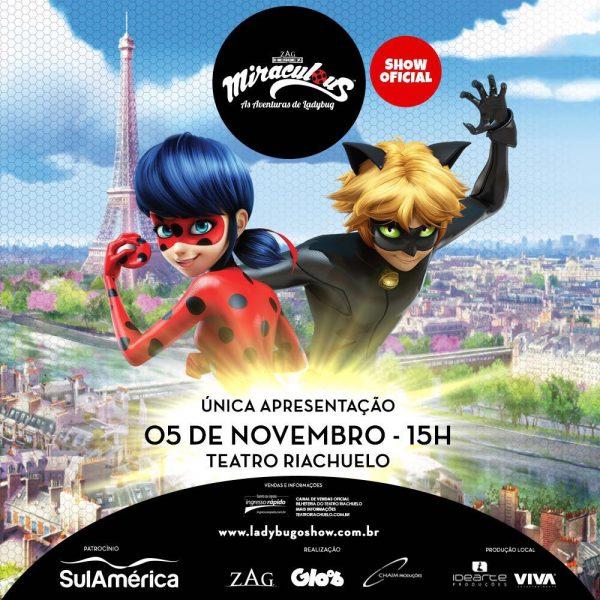 Espetáculo Miraculous: As aventuras de Ladybug chega a Natal.