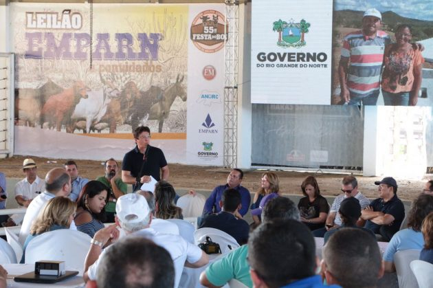 Na Festa do Boi, governador apresenta balanço dos mais de R$ 150 milhões já investidos no setor agropecuário. (Foto: Demis Roussos).