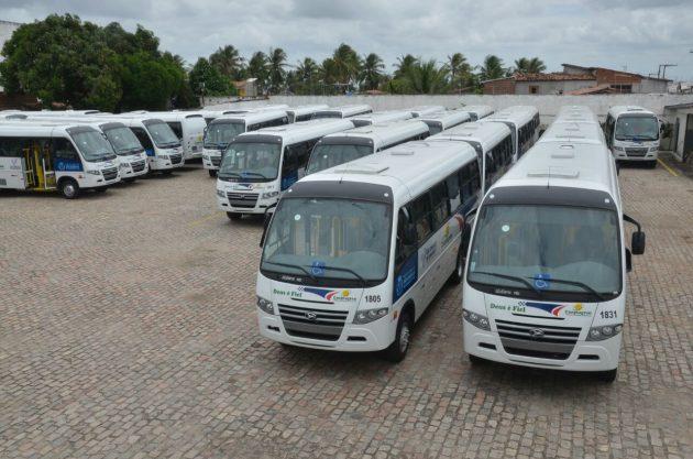 Primeiro município da Grande Natal a ter transporte licitado, São Gonçalo recebe nova frota nesta terça. (Foto: Junior Santos).