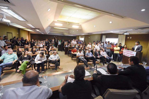 Debate na Assembleia mobiliza setor da Construção em busca de recursos federais. (Foto: João Gilberto).