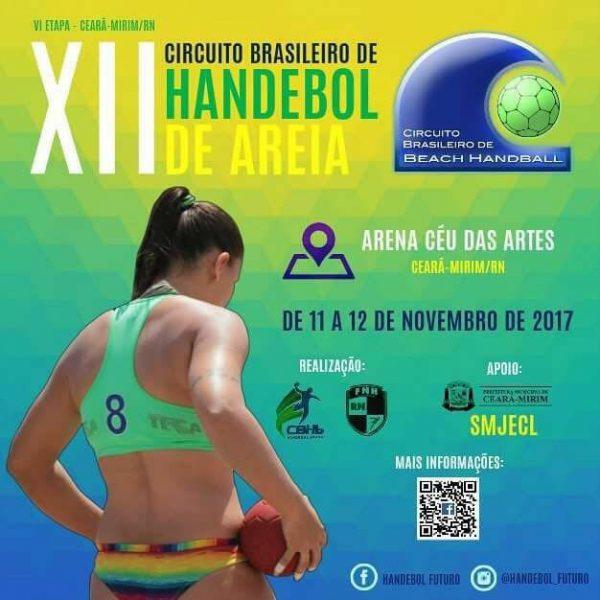 Ceará-Mirim sedia etapa do Circuito Brasileiro de Handebol de Areia neste final de semana.