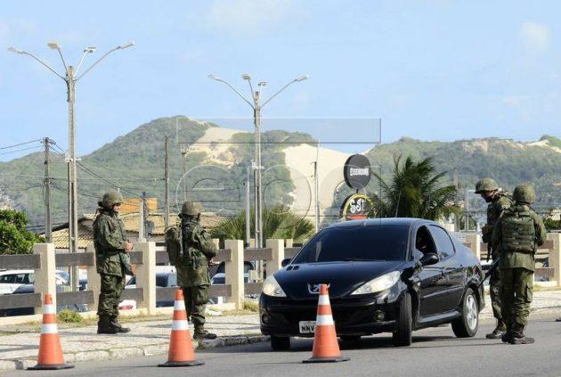 """Marinha do Brasil participa da Operação """"Potiguar III"""" no Rio Grande do Norte."""