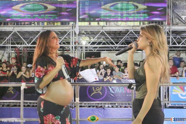 Abrindo sábado de Carnatal, Ivete Sangalo faz última apresentação em trio antes do parto de gêmeas