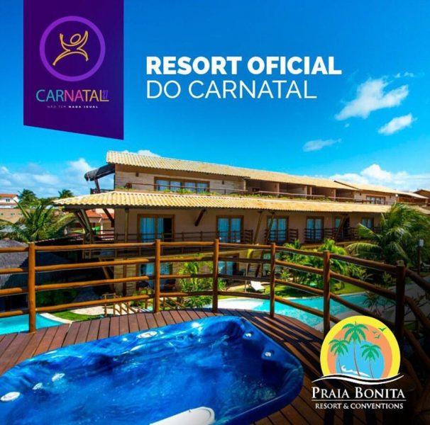 O Praia Bonita será o resort oficial do Carnatal 2017.