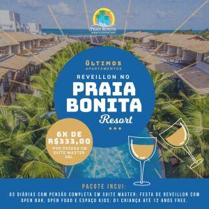 Réveillon no Praia Bonita Resort & Conventions tem últimos apartamentos à venda.