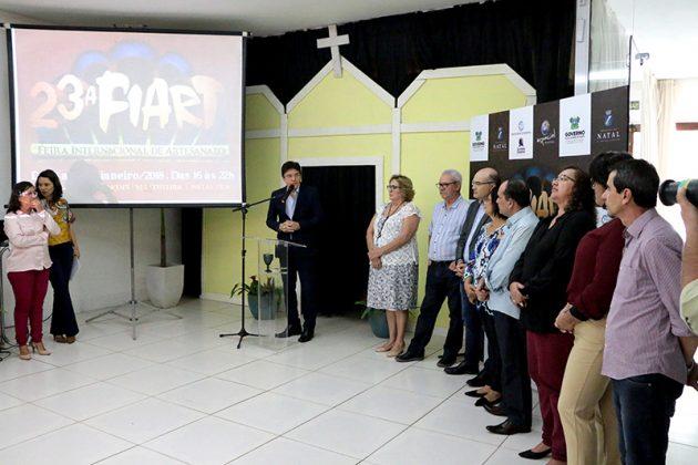 Governador destaca investimentos no artesanato durante lançamento da 23ª Fiart. (Foto: Demis Roussos).