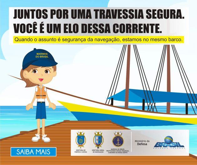 """Capitania dos Portos do Rio Grande do Norte inicia Campanha """"Travessia Segura""""."""